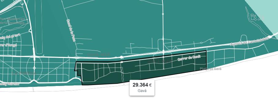 Gavà Mar cuenta con la renta más alta de Gavà.