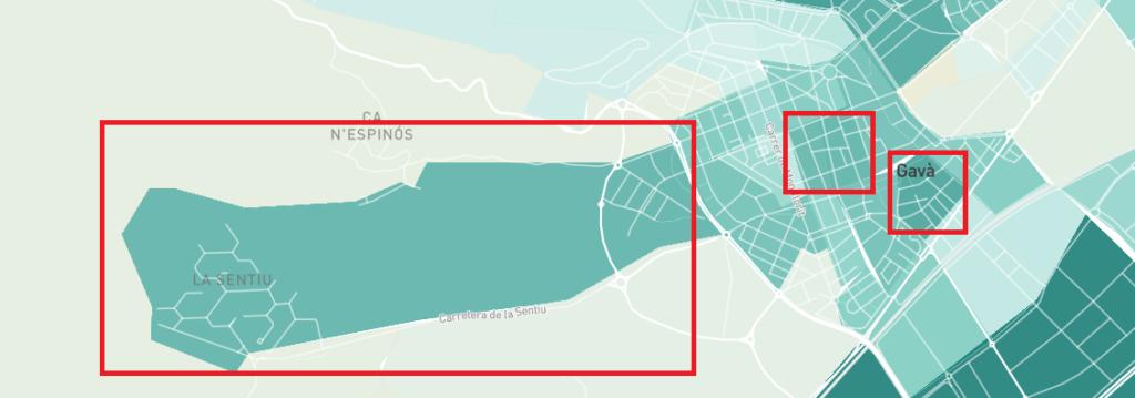 Distritos del Centre y La Sentiu, en cabeza (sin contar con Gavà Mar).