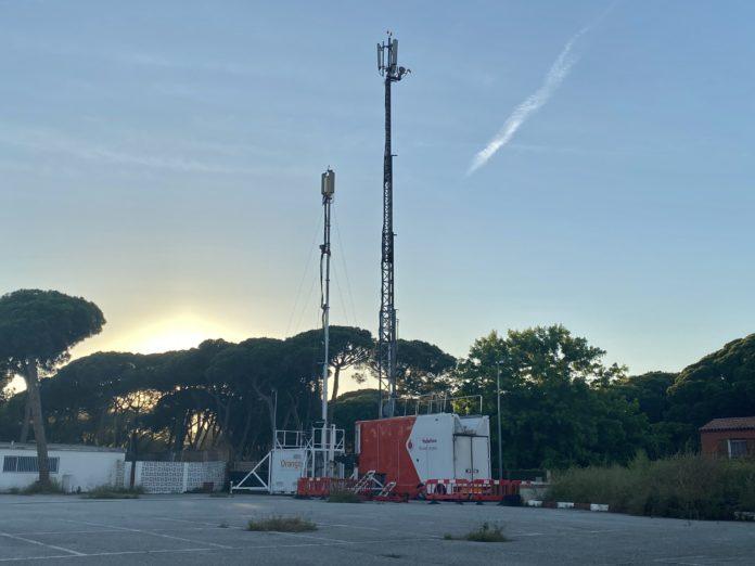 Antenas situadas en el camí de La Pava.