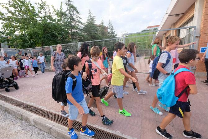 Estudiantes de primaria de Gavà. (Foto: Ayuntamiento)