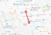Tramo de la calle Sant Isidre donde se cerrará la circulación.