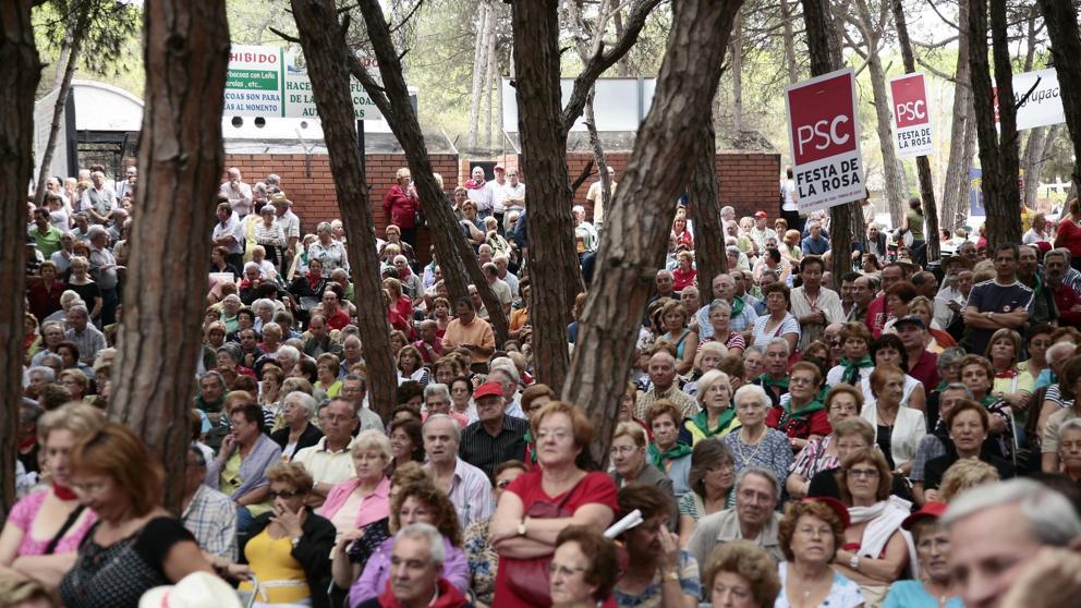 Fiesta de la Rosa, anteriores ediciones. Foto: LA VANGUARDIA.