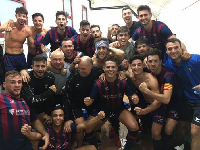 El CF Gavà gana 0-2 contra el FC Ascó. Foto: Twitter @cfgavaoficial.