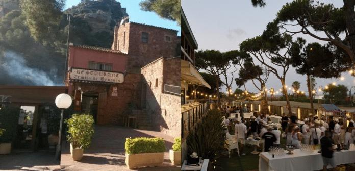 Restaurante Ermita de Bruguers (izquierda) y Lobster Lounge (derecha).