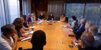 Reunión con la AV Gavà Mar. Foto: Ajuntament de Gavà.