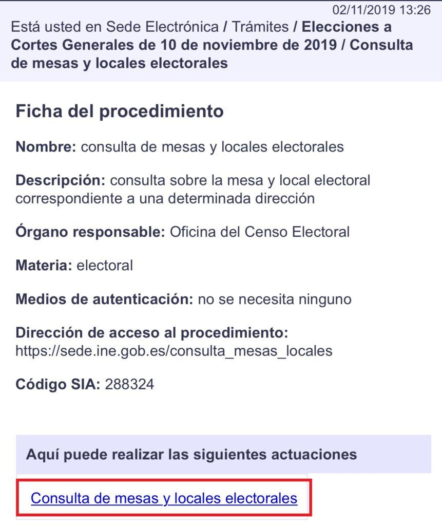 Cómo saber mi colegio electoral y la mesa en la que tengo que votar