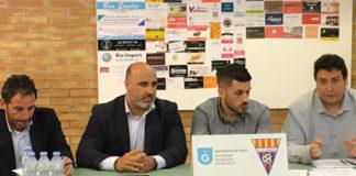 Iván Carrillo (segundo izquierda), actual Presidente del CF Gavà. Foto: Isaac Fandos, CF Gavà.