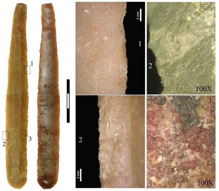 La hoja de sílex más larga (13 cm) del Neolítico Medio encontrada en el NE peninsular, en Gavà.