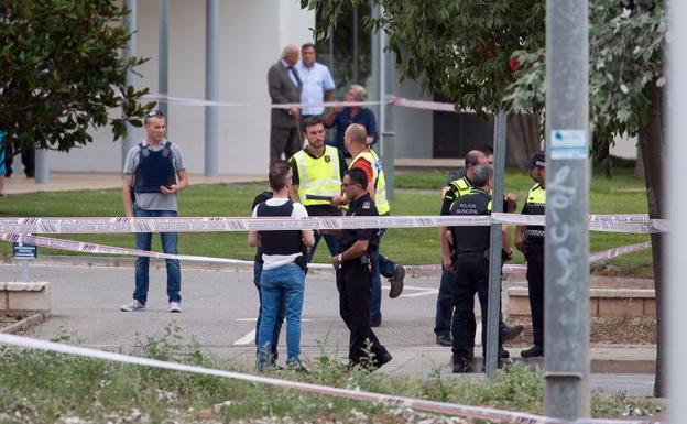 Lugar donde los policías fueron tiroteados. Foto: EFE