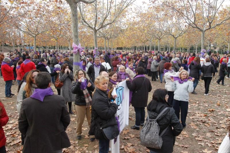 Marcha contra la violencia machista. Foto: elfar.cat