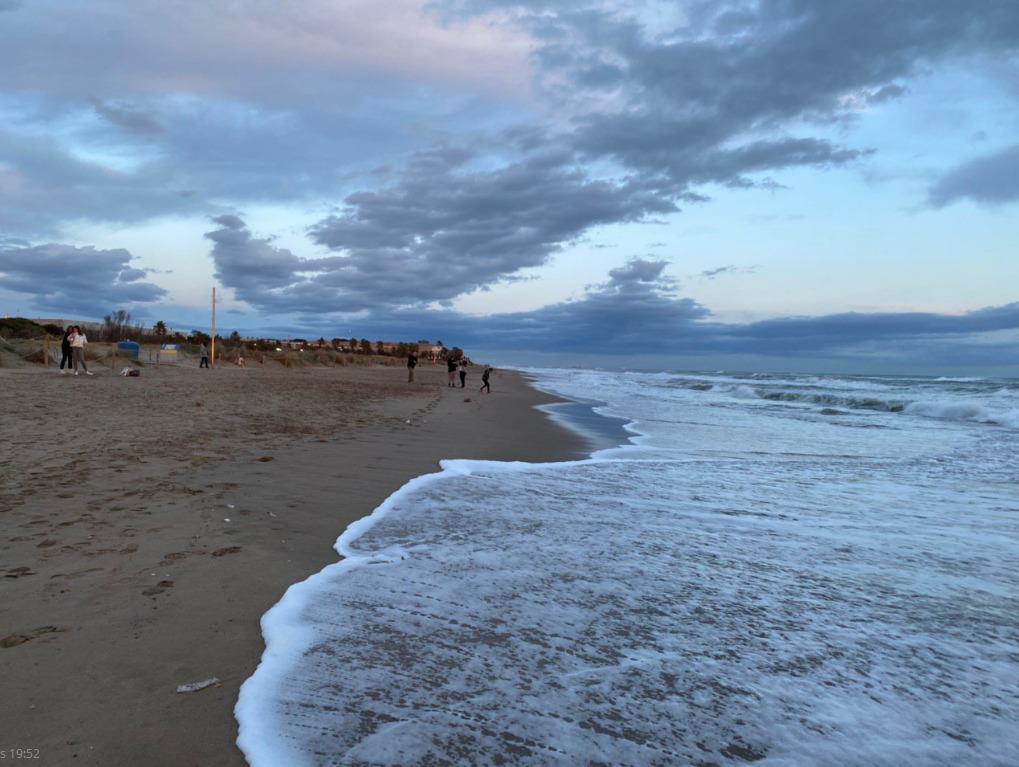 Playa de Gavà, 23 de noviembre por la tarde.