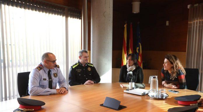 Reunión con el nuevo intendente. Foto: Ayuntamiento de Gavà.
