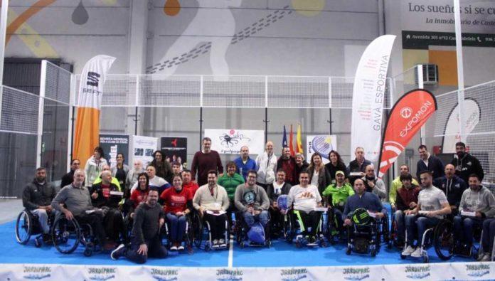 Torneo de la primera edición de pádel en silla de ruedas. Foto: Mundo Deportivo.