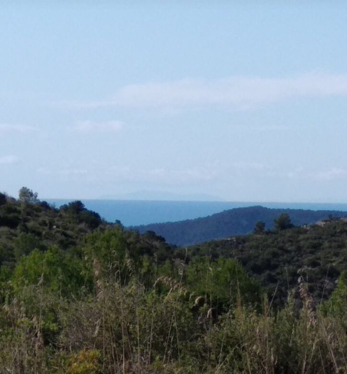 Mallorca desde el Garraf (Gavà).