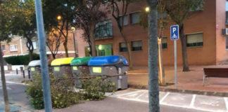 Caída de un árbol en la carretera Riera de les Parets. (Imagen de anteriores temporales)