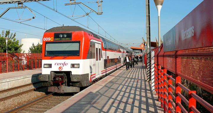 Imagen de la estación de Viladecans.