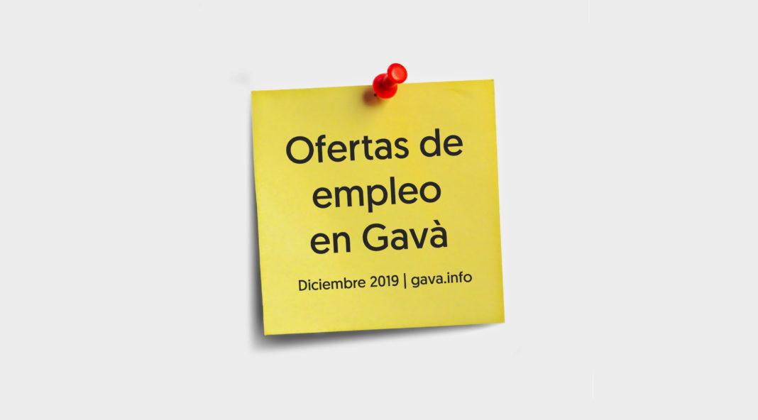 Ofertas de empleo en Gavà para diciembre.