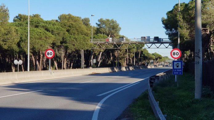 Autovía de Castelldefels a 80km/h. Foto: José Ramón Arias.