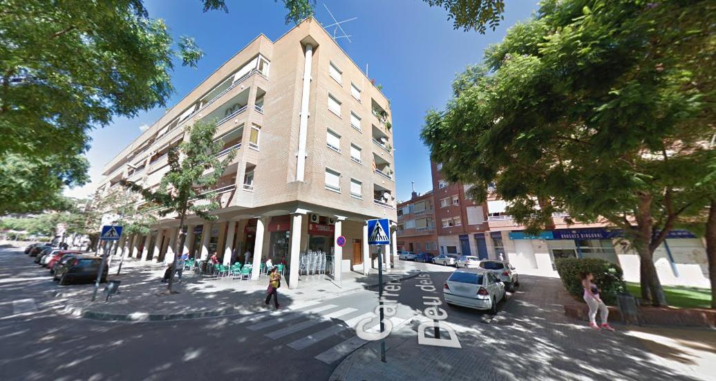 Calle Verge dels Dolors, tramo afectado.