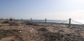 Residuos en la playa por el temporal Gloria. Foto: Ayuntamiento de Gavà.