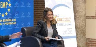 Raquel Sánchez en la Asamblea General de Red de Ciudades por el Clima.