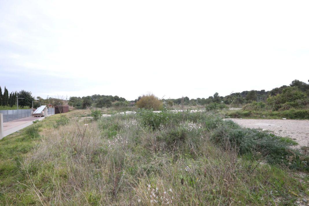 Zona donde está prevista la construcción. Foto: Ayuntamiento de Gavà.