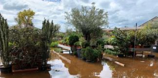 Inundación en Jardiland Gavà.