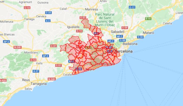 Área Metropolitana Sur. (Consulta el mapa más abajo)