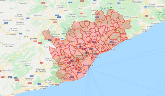 Área Metropolitana unificada en Fase 1.