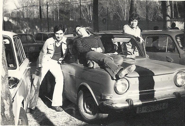 Parking del Tenis Pineda finales 70's.
