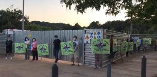 Acción contra el Pla de Ponent el pasado 28 de mayo.