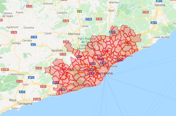 Región Sanitaria de Barcelona.