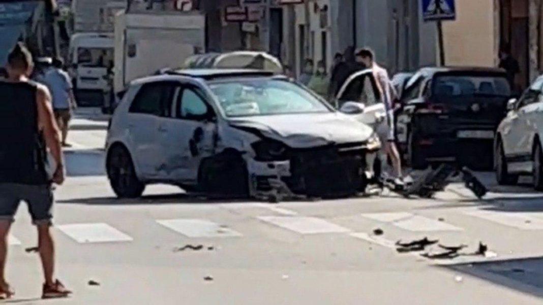 Accidente en la carretera Santa Creu de Calafell.