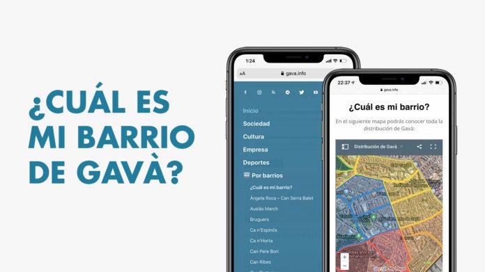 Nueva herramienta para conocer la distribución de Gavà.