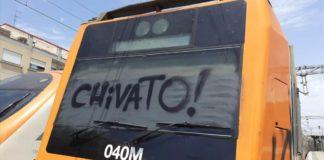 """Grafiti con la palabra """"chivato""""."""