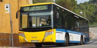 Autobús GA1 en La Sentiu. Foto: Mikel270201.