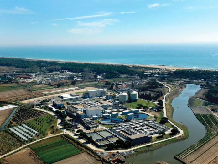 Vista de la estación depuradora de aguas residuales de Gavà-Viladecans. Foto: AMB.