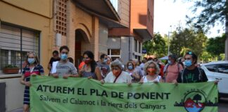 Foto: Twitter Salvem El Calamot / 2 de julio.