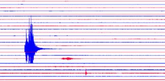 Captura del sismógrafo que hay situado al lado del vertedero de Gavà.