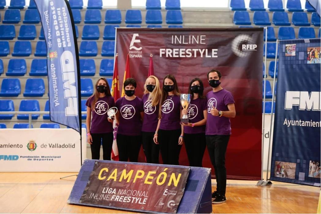 El GavaFreestyle, conocido como GFS, campeón nacional femenino de Inline Freestyle (Foto: RFEP)