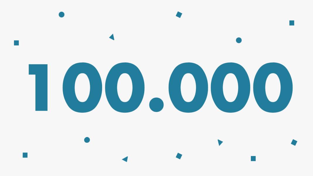 ¡100.000 gracias!