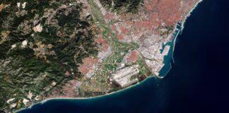 Delta del Llobregat. Foto: European Space Agency (ESA).