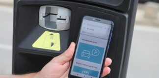 Aplicación de aparcamiento metropolitano. Foto: AMB.