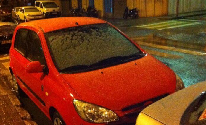 Nieve granulada en la calle Sant Martí en años anteriores. Foto: @JosepMRanchal.
