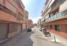 Calle de las Colomeres, tramo afectado.
