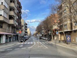 Carretera Santa Creu de Calafell, a la altura de Fortià Casanovas.