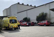 Dotaciones de Bomberos y servicio de emergencias médicas en la zona.