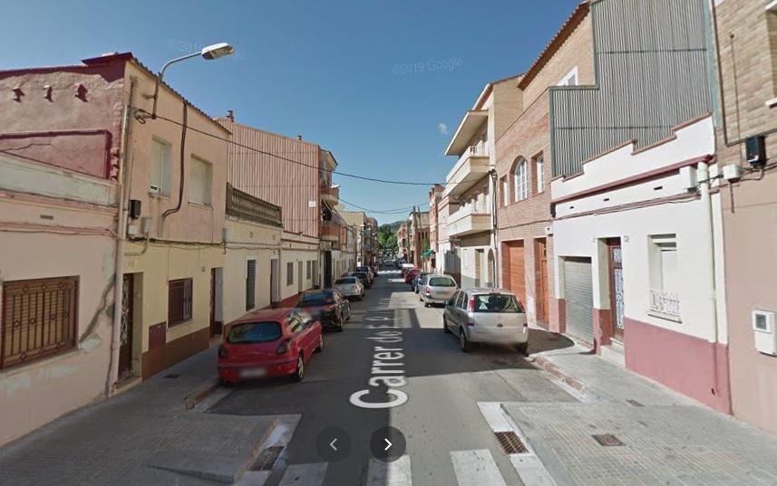 Calle Pi i Maragall, tramo afectado.