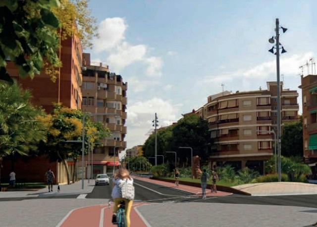 Tramo entre la Riera de les Parets y la calle Fortià Casanovas.