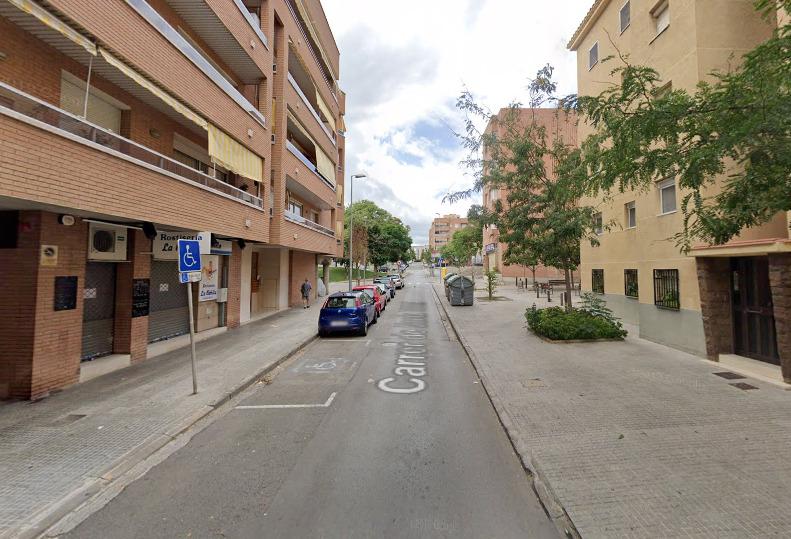 Calle Santa Teresa, tramo afectado.